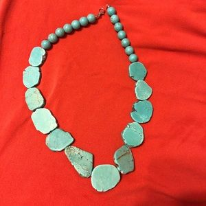 Jewelry - Natural Stone Flat Turquoise Necklace